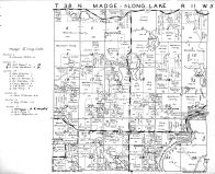 Madge Townhip, Long Lake Township - North, Washburn County 1952